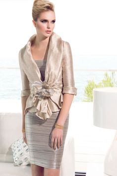 Carla Ruiz Occasion dress & organza jacket, stocked at Classy Rags.