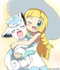 Alola Vulpix and Lillie