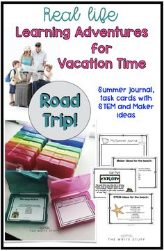 STEM activities can be just as much fun when you are on vacation. This summer journal and task card set with keep those kids thinking and engaging in exploration while they are on vacation.