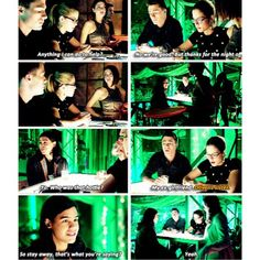 """Roy, Felicity and Cisco (Flash Cast) - """"So stay away, that's what you're saying?"""" #ArrowFlashCrossover"""