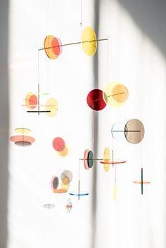 LMC Mobile from Jordi Canudas Studio, 2017 for sale at Pamono Design Shop, Design Studio, Flat Design, Web Design, Hanging Mobile, Mobiles Art, Mobile Sculpture, Kinetic Art, Bedroom Decor