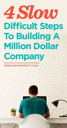If you want to build a million dollar company, here's a great article to start you off!