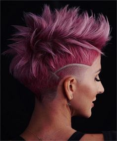 30 Pretty in Pink Hair Colors and Styles We Love - Hair Color - Modern Salon - Creative/Fashion Colors - Hair Color Hair Color Pink, Hair Color And Cut, Pink Hair, Hair Colors, Box Braids Hairstyles, Cool Hairstyles, Short Hair Cuts, Short Hair Styles, Corte Pixie