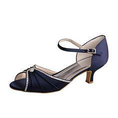 67cb9276e8e Wedopus MW033B Women s Open Toe Mid-heel Mary Janes Rhinestones Wedding  Party Sandals  Amazon.co.uk  Shoes   Bags