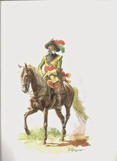 SOLDIERS- Rousselot: Officier des Chasseurs de Holk, by Lucien Rousselot.
