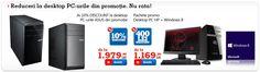 Desktop PC-uri in pachete promotionale cu Windows 8 si 400 de lei discount