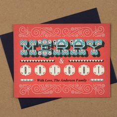 Merry and Bright Holiday Card www.lovevsdesign.com // Christmas Card inspiration