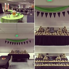 """A """"Giving Tree"""" Volunteer Appreciation lunch complete with apple center pieces, fall apple cider, and jars of """"dirt"""", which were actually Stubbornly Sweet Coffee and Cinnamon Scrubs created by me!"""