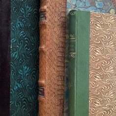 Three gorgeous covers of antique Danish books.