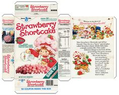 Image detail for -STRAWBERRY SHORTCAKES CEREAL BOX *PAPERCRAFT* by ~vintagepapercraft on ...