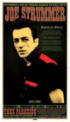 Joe Strummer Poster by The Firehouse.