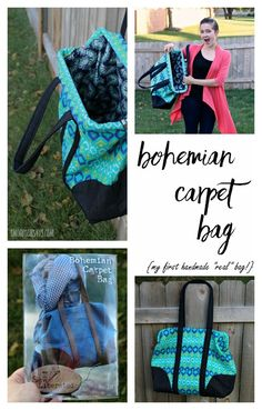 Bohemian Carpet Bag - a purse sewing pattern from Sew Liberated, sewn by Swoodsonsays.com