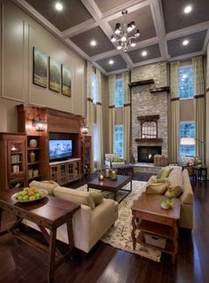 Excellent Placement Of Artwork    Triptych    Above The Entertainment  Center. Toll Brothers   Americau0027s Luxury Home Builder