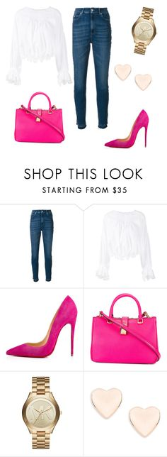 """Untitled #298"" by jovanaaxx on Polyvore featuring Alexander McQueen, Chloé, Christian Louboutin, Dolce&Gabbana, Michael Kors and Ted Baker"