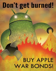 Apple's propaganda poster against Android by Aaron Wood.