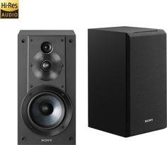 "Sony - Core Series 5"" 3-Way Bookshelf Speakers (Pair) - Black - Front Zoom"
