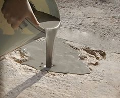 Flowpatch® Self Leveling Concrete Patch Repair perfect for concrete patios, concrete entrance ways and pits in sidewalks