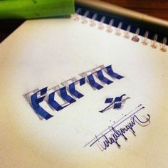 Awesome and incredible calligraphy and lettering will be displayed below, designed by Tolga Girin, a Turkish artist born in Simav in 3d Letters, Calligraphy Letters, Calligraphy Worksheet, Letter Art, 3d Art, Beautiful Handwriting, Penmanship, Illustrations, Brush Lettering