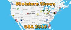 This is a show list and map of all the dollhouse and miniatures shows happening in 2016 in the US. Information about each show is linked to.