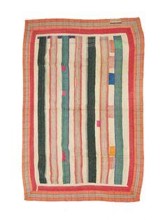 Vintage Kantha Quilt WATERMELON | Fossik