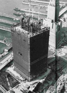 vintage everyday: Construction of the World Trade Center
