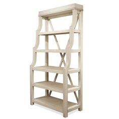 The open shelf design of the Riverside Furniture Aberdeen Open Display Cabinet is a stylish way to put your favorite dinnerware and home accents on. Open Bookcase, Ladder Bookcase, Open Shelving, Adjustable Shelving, Riverside Furniture, Shelf Design, Aberdeen, Dining Set, Dining Room