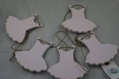 Pretty pale pink tutu bunting to display your child's artwork.