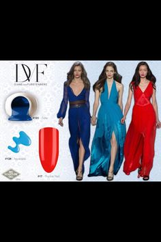 Love the blue and red contrast! Hands up if you're a fan! Bio Sculpture, Contrast, Aqua, Formal Dresses, Fashion Trends, Hands, Dresses For Formal, Water, Formal Gowns