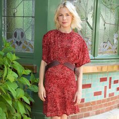 Michelle Williams at the Louis Vuitton Family Home wearing a look from the Cruise 2016 Collection by Nicolas Ghesquière
