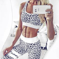 074b075709567 Women s Fitness Suits Crop Tank Top And Legging Pants 2 Pieces Set Summer  Fashion Ladies Sexy