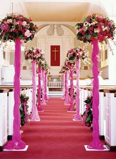 wedding aisle decorations | Wedding Latest Decor In Church | Wedding Ideas