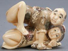 Couple figurines erotic