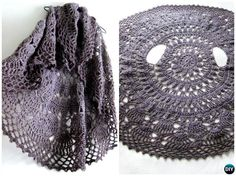 DIY Crochet Flower Circle Vest Free Pattern