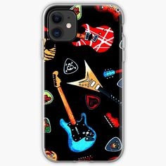 """""""Electric Rock Guitars"""" iPhone Case & Cover by HavenDesign 