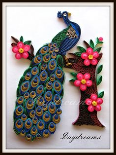 469 Best PEACOCK quilled images in 2016