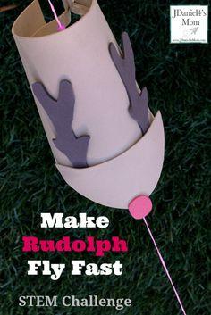 Make Rudolph Fly Fast STEAM Challenge