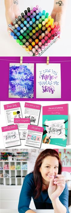 Constellation Lettering eCourse + Art of Lettering eBook Launch! Get all the details on both the online class and eBook! Lettering Styles, Brush Lettering, Chalk Lettering, Beautiful Calligraphy, Modern Calligraphy, Calligraphy Letters, Calligraphy Practice, Online Art Classes, Hand Lettering Tutorial