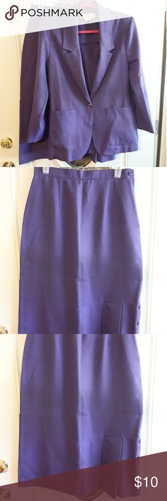Vintage Skirt suit by thats me size 11/12 Vintage Purple skirt suit mid calf length polyester rayon in very good condition thats me Skirts Skirt Sets