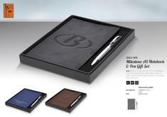 Branded journal and pen set.Elevate you brand with this faux leather journal.With 192 lined pages,ribbon marker and metal twist ballpoint.It is a great gift for corporate purposes. Corporate Outfits, Corporate Gifts, Brand Innovation, Black Gift Boxes, Business Gifts, Pen Sets, Leather Journal, A5, Marker