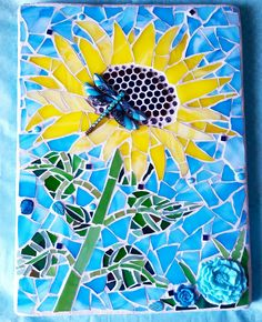 Mosaic sunflower Www.etsy.com/shop/PrancyBearStudio