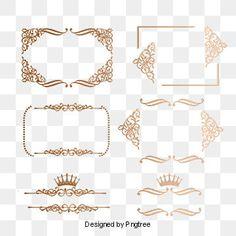 Frame euporean pattern european border dividing line PNG and PSD Essie, Frame Floral, Wedding Badges, Frame Border Design, Vector Border, Adobe Photoshop, Glitter Frame, Vintage Borders, Golden Pattern