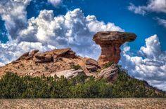 """""""Camel Rock on Tesuque Pueblo land north of Santa Fe, New Mexico."""""""