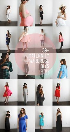 Make your own maternity wardrobe with these 30+ DIYs (new post almost daily) | C&C | Bloglovin