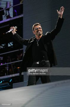 George Michael during George Michael 25 LIVE Tour in Paris at Stade de France in Paris France