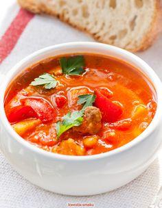 Pyszna, rozgrzewająca zupa gulaszowa, gulaschsuppe Thai Red Curry, Ethnic Recipes, Food, Essen, Meals, Yemek, Eten