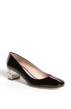 Miu Miu Block Heel Pump on shopstyle.com