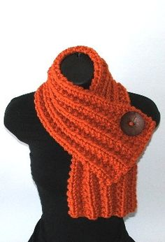 Beautiful scarf with big button