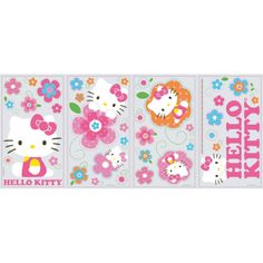 Hello Kitty Floral Boutique Peel and Stick Wall Decals Fun Colorful  http://cgi.ebay.com/ws/eBayISAPI.dll?ViewItem&item=271447348845