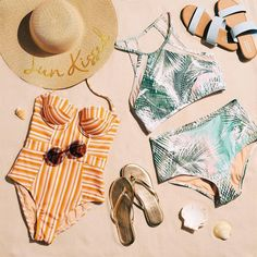 Attention: new swim is in. Shop the @LCLaurenConrad swimsuits & sandals in our bio.