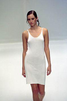 Krizia | Spring 2000 Ready-to-Wear | 111 White strappy mini dress